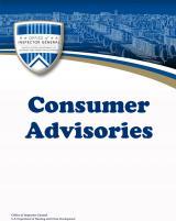 Consumer Advisories